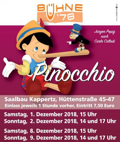 Pinocchio Plakat 2018